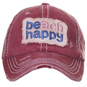 C.C Solid Color Beach Happy Ponytail Baseball Cap